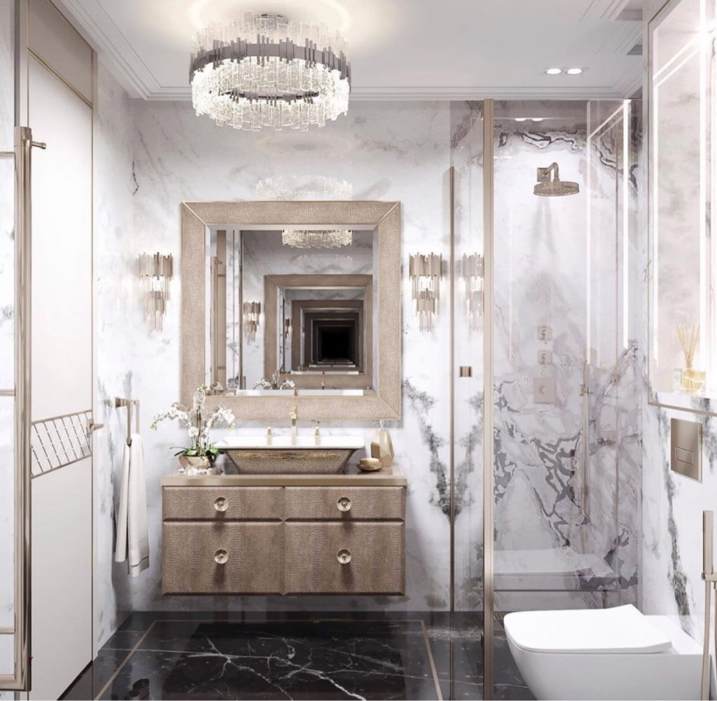 marble in badroom design